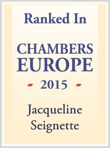 Chambers Europe 2015 - Jacqueline